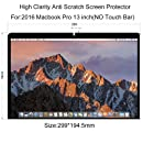 COOSKIN 13-inch Screen Protector Guard For 2016 MacBook Pro Retina Display A1708,High Clarity Screen Film,4H Anti Scratch Protector filter(No Touch Bar)