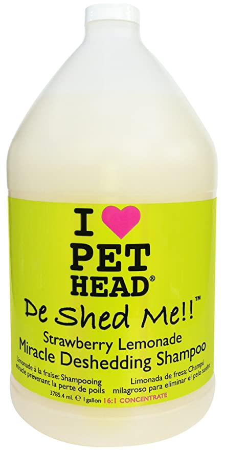 The Company of Animals Pet Head De Shed Me Strawberry Lemonade Miracle Deshedding Shampoo (1