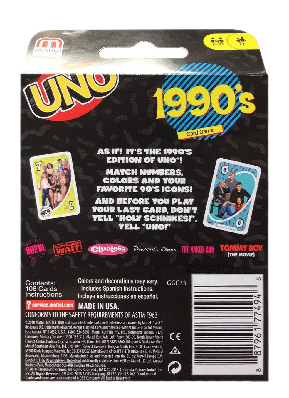 Amazon.com: UNO 1990s Card Game: Toys & Games