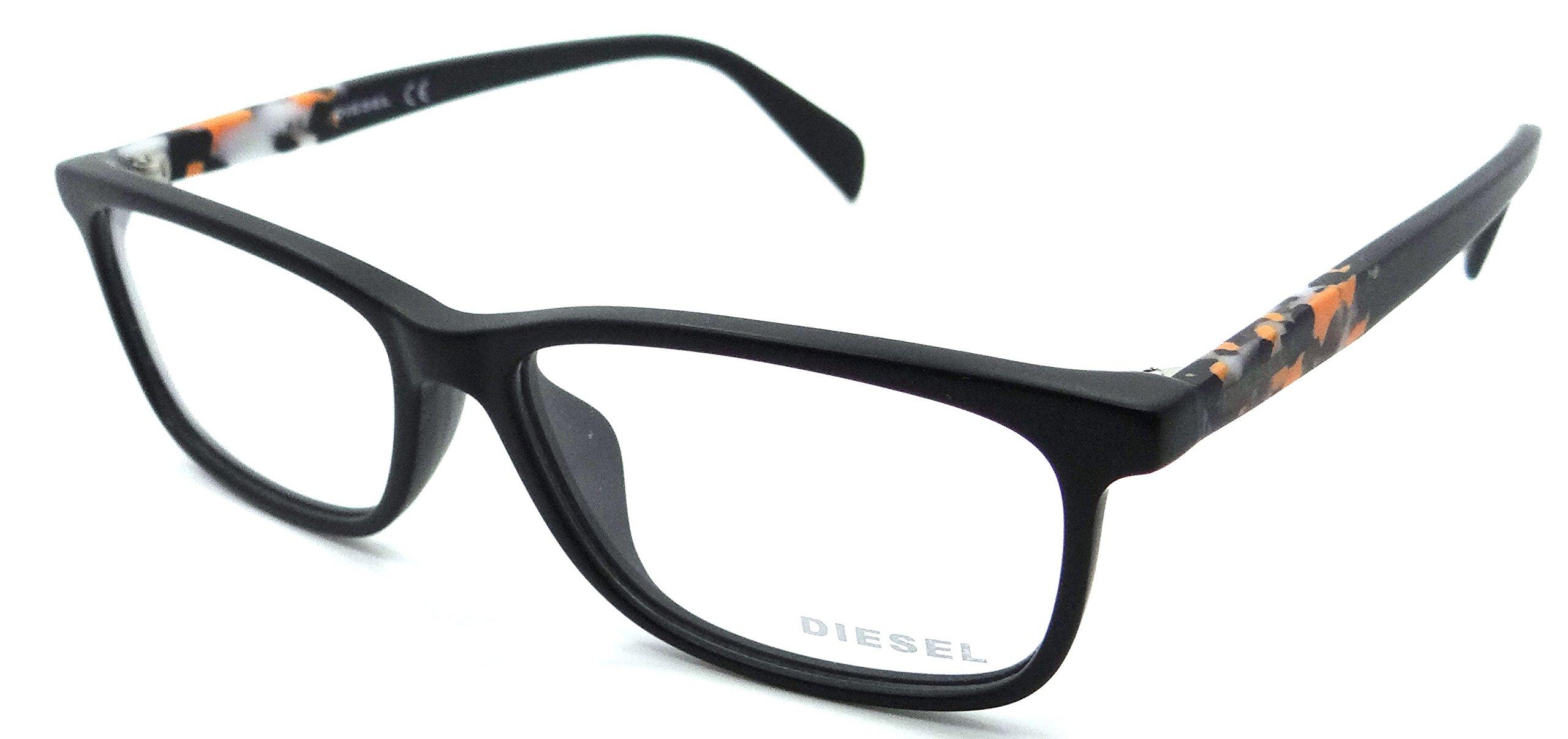 Diesel Rx Eyeglasses Frames DL5141-D 002 57-15-150 Matte Black Asian Fit