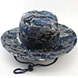MAIYU Boonie Hat Military Waterproof Cap Woodland Camo Fishing Bucket Hat With String Snap Brim Hat Alternative Color