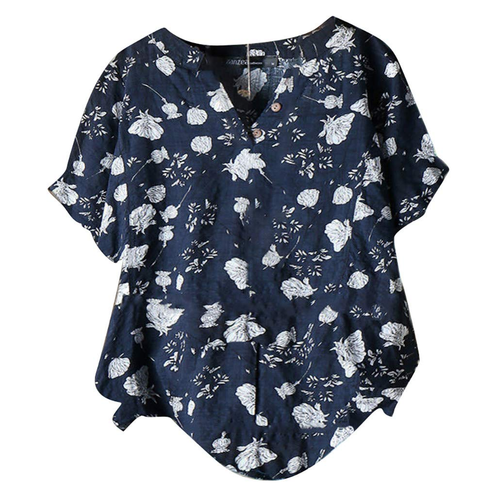 Women Cotton and Linen Blouse 2019 Early Autumn Casual Butterfly Print Long Sleeve Retro Vintage Tops