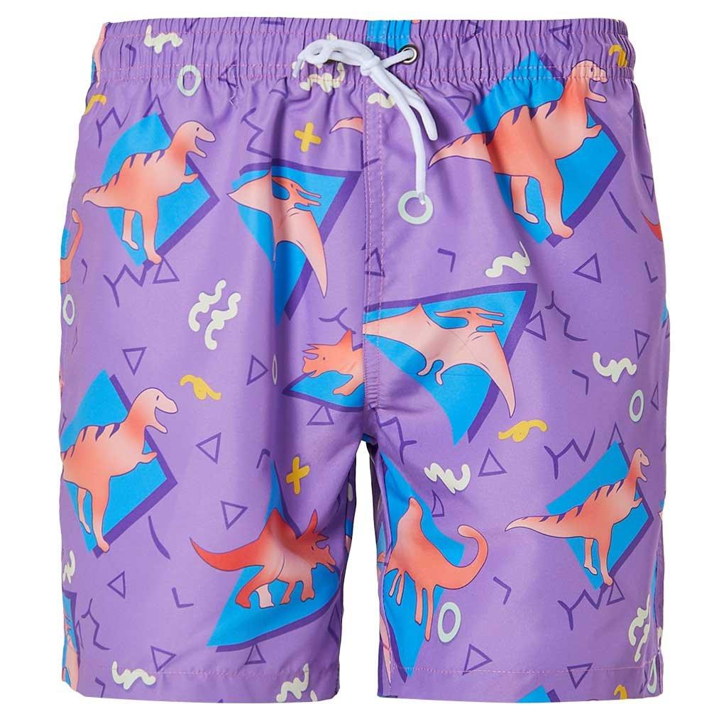 Mens Boardshorts Summer Beach Board Shorts Dinosaur Swimshorts with Mesh Lining XXL