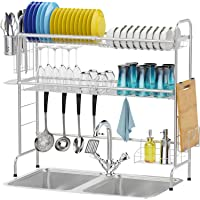 Deals on Over the Sink Dish Drying Packism 2 Tier Dish Rack