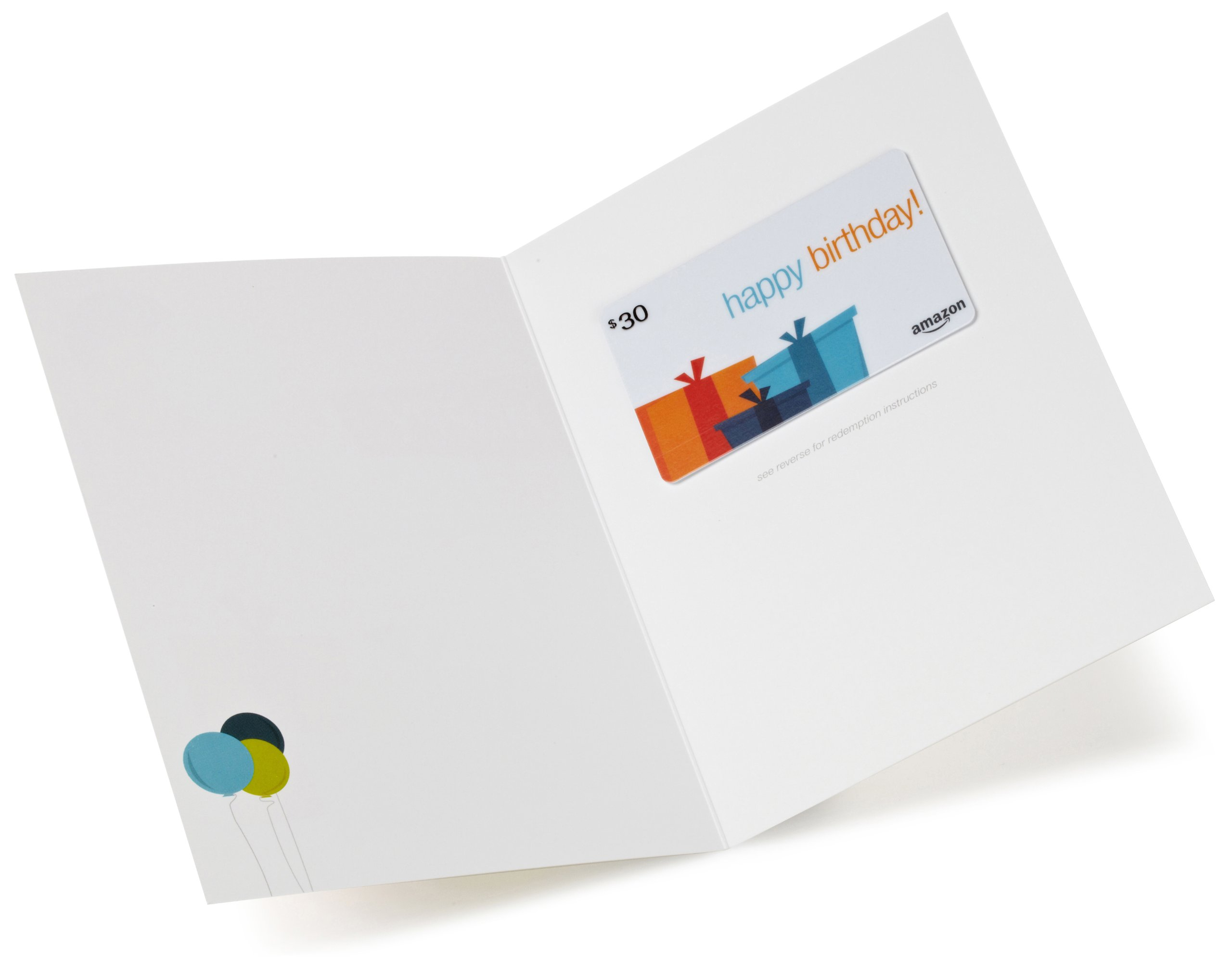 Amazon 30 Gift Card In A Greeting Birthday Presents Design Cards
