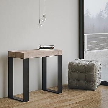 Group Design Table Console Extensible Made En Italy Tecno Chêne