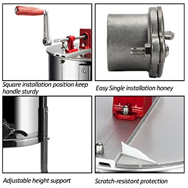 Pro Electric 2//4 Frame Stainless Steel Honey Extractor Beekeeping Equipment Drum