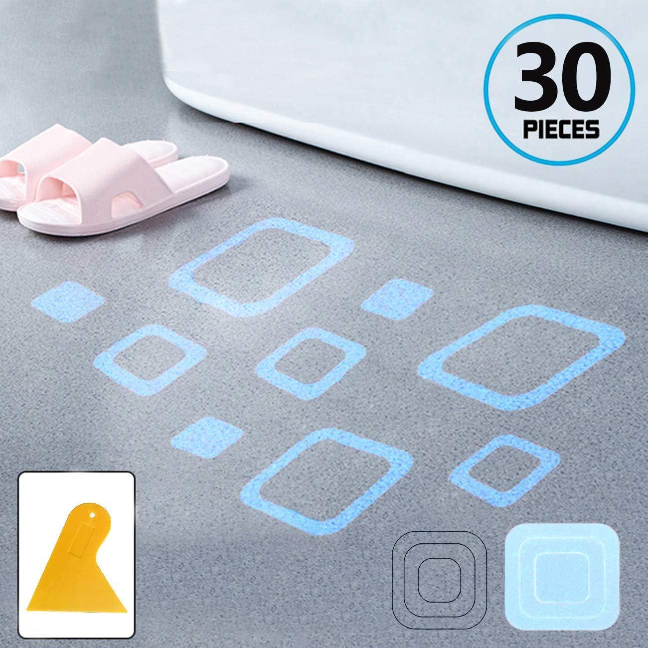 GGCACINO - Pegatinas Antideslizantes para mamparas de Ducha, 30 Unidades, Tiras Adhesivas Antideslizantes para bañera, Ducha, escalones, Cinta: Amazon.es: Hogar