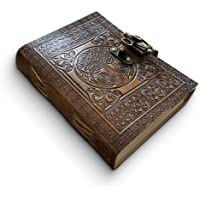 Läderdagbok handgjord av DreamKeeper – keltisk präglad resedagbok – original antik livets träd design – vanligt…