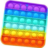 GEN Pop It Push Pop Bubble Juguete Sensorial Fidget Toy de Silicona - Juguete Antiestrés, Alivia Ansiedad - Cuadrado…