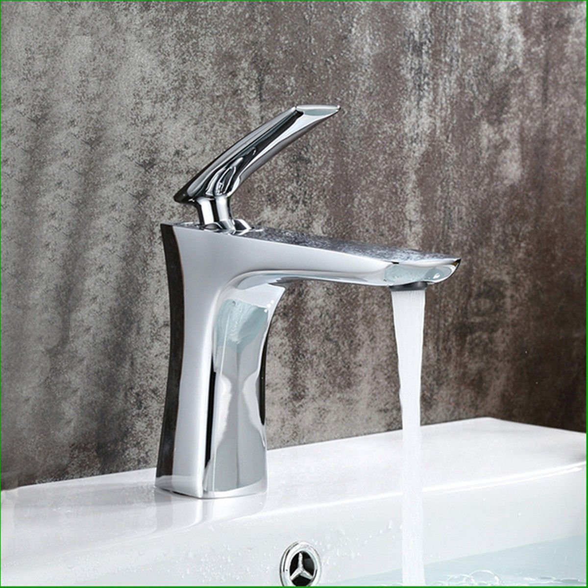 Lalaky Taps Faucet Kitchen Mixer Sink Waterfall Bathroom Mixer Basin Mixer Tap for Kitchen Bathroom and Washroom Copper Chrome Hot and Cold Single Hole