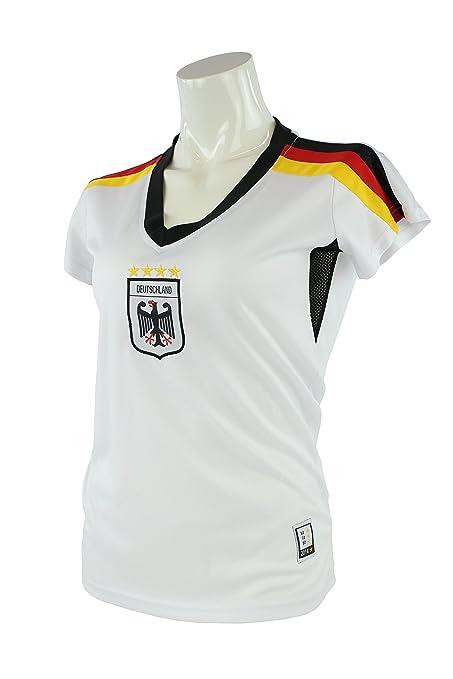 MC-Trend Damen Trikot Deutschland Germany Weltmeister Weltmeisterschaft 4 Sterne Schwarz Rot Gold