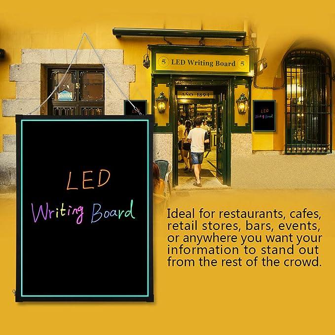 Amazon.com: Cocoarm - Tabla de escribir con luz LED para ...