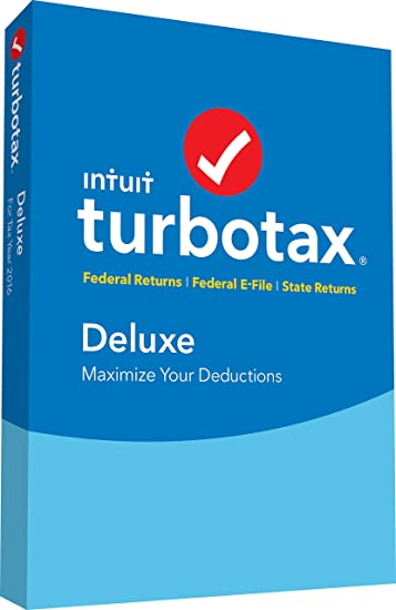 turbotax deluxe 2016 tax software federal state fed efile pcmac disc