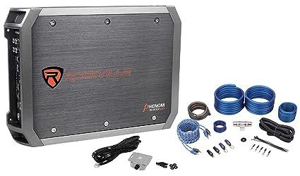 New Rockville RXD-M1 2000 Watt/1000w RMS Mono 1-Ohm Car Amplifier+Amp Wire  Kit