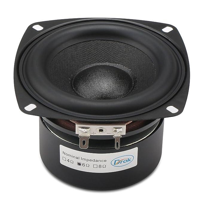 3 opinioni per DROK® 40W HIFI altoparlanti stereo con subwoofer, 6 ohm da 4 pollici