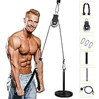 Tumax Katrol Kabel Machine Systeem, Touw Katrol Fitness, Arm Katrol Gewichtstraining, DIY Home Gym Triceps Katrol Kabel…