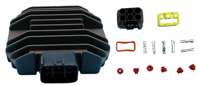 Tuzliufi Voltage Regulator Rectifier Replace Yamaha Yzf R6 Xvs 125 250 650 1100 Rhino 450 660 Kodiak 400 450 Grizzly 660 600 Fz6r Bt1100 Vp300 Wr250R Yfm350 Big Bear 400 Xvz1300 5BN-81960-00 New Z83 Generic