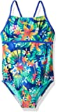 Speedo Girls' Hidden Tropical Strappy one Piece