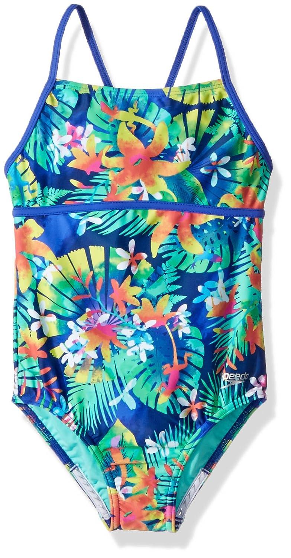 Speedo Girls Hidden Tropical Strappy One Piece Speedo Swimwear 7714802-P