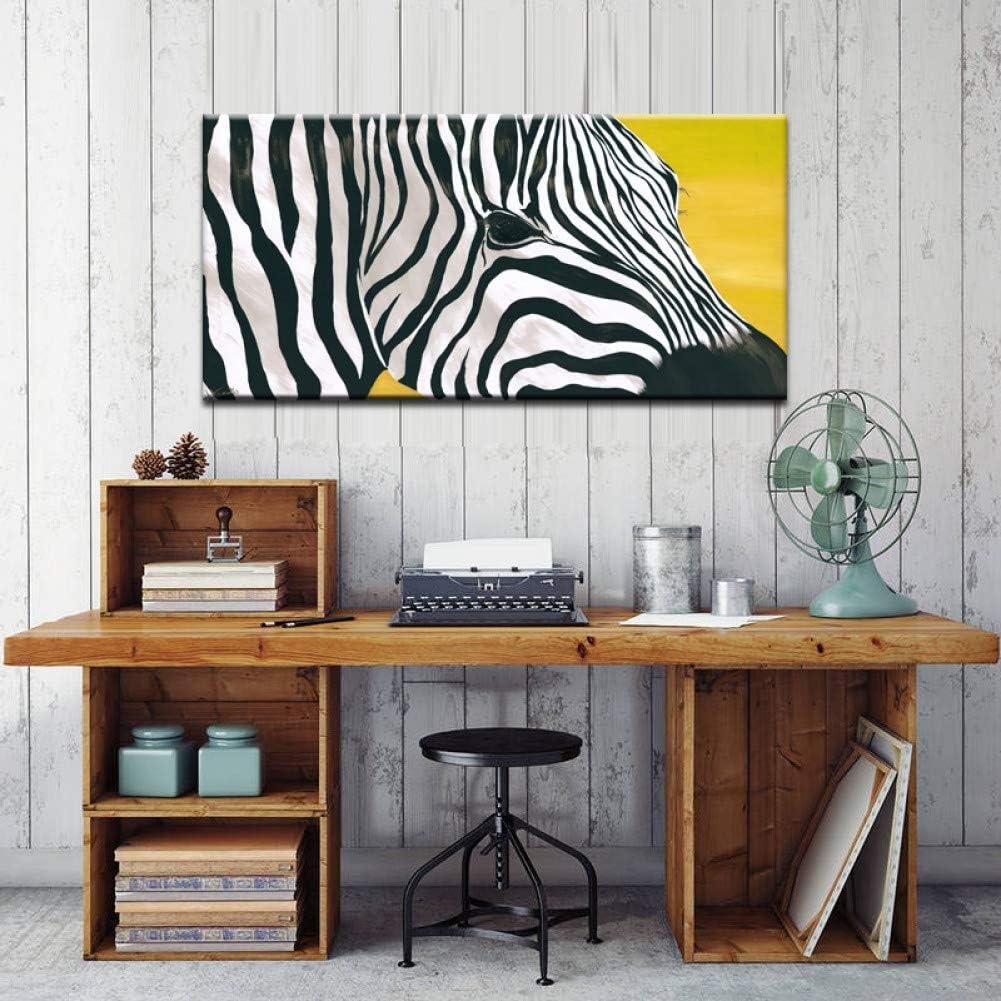 YXWLKG 1 Pintura Continua Carteles e Impresiones Arte de la Pared Pintura de la Lona decoración de la Pared Cuadros Abstractos de la Cebra para la Pared de la Sala de Estar sin 40x80cm Sin Marco