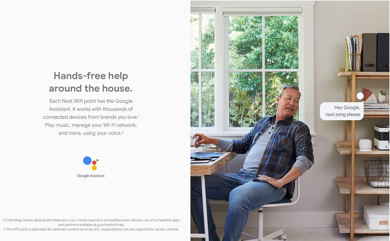 Google Nest Wifi 4-Pack Smart WiFi Powered by the Google Assistant
