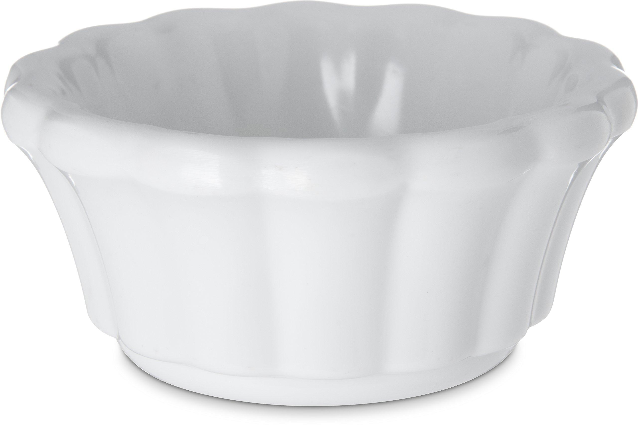 White 3 ounce Scalloped Ramekin - 48 per case
