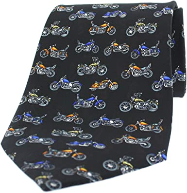 Soprano Corbata de seda, diseño de motos, color negro: Amazon.es ...
