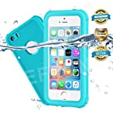 Waterproof iPhone 5/5S/SE Case, EFFUN IP68 Certified Waterproof Dust/Snow/Shock Proof Case with Cell Phone Holder, PH Test Paper, Stylus Pen and Floating Strap Black/White/Aqua Blue/Pink/Light Blue