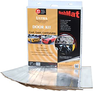 product image for HushMat 10201 Ultra Silver Foil Door Kit with Damping Pad - 10 Piece