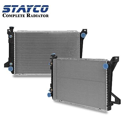 amazon com: cu1453 radiator replacement for ford bronco f-150 f-250 f-350  1985-1997 v8 5 0l 5 8l(1