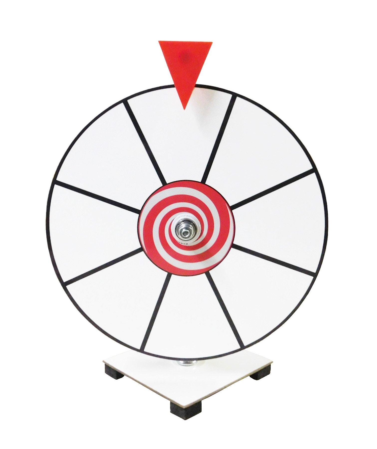 Prize Wheel 12'' White Face Dry Erase Kid Safe Pegless Design