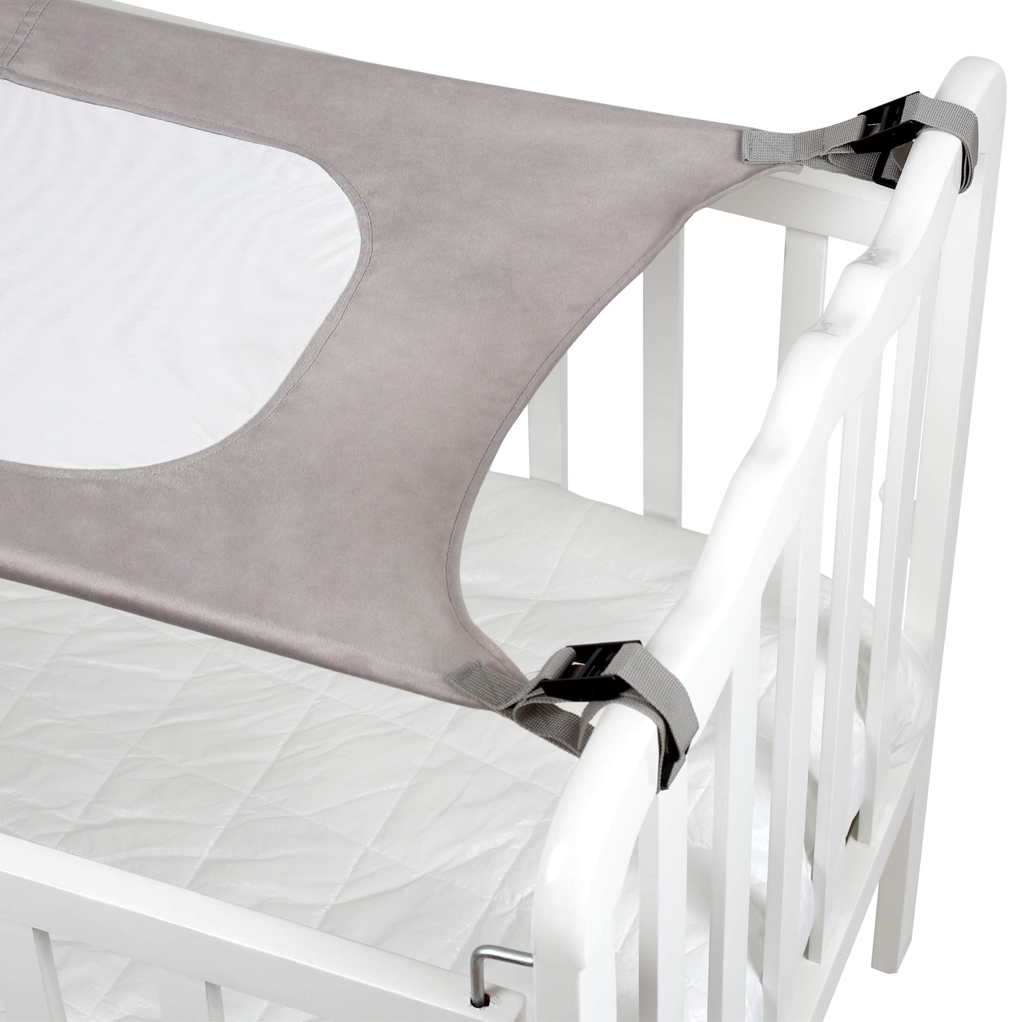 Baby Crib Hammock by Easy Gorilla - Newborn Bed Sleeping Essentials for Boys and Girls - Breathable and Portable - Infant Sleep Comfort Gifts for Indoor Cot - Cradle - Safety Mesh Nursery Nap Hammocks by EasyGorilla (Image #4)