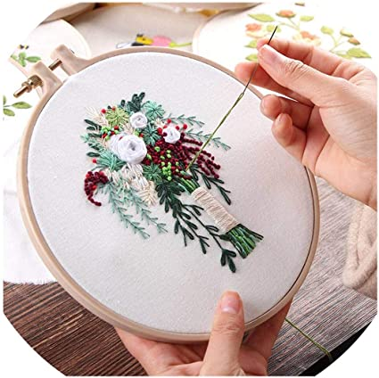 2 Embroidery Stitch Sewing Set Kit Flower Sewing Craft Hand Embroidery