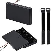 AA 12V batterijhouder geval plastic batterij opbergdoos met AAN/UIT schakelaar en bevestiging kabelbinders (8 sleuven* 2…