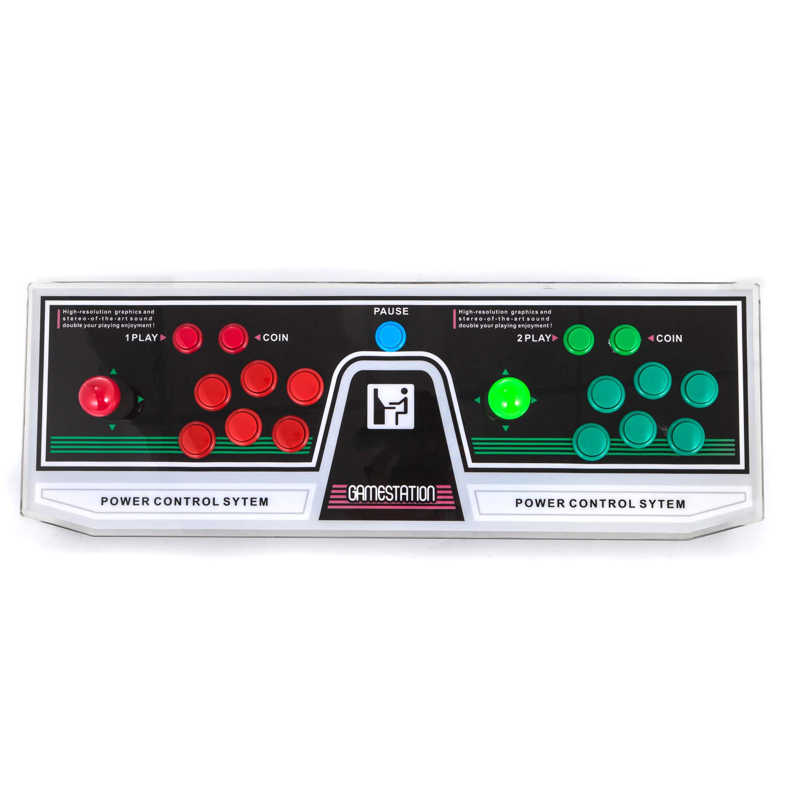 Happybuy Arcade Game Console 1280P Games 1500 in 1 Pandora's Box 2 Players Arcade Machine with Arcade Joystick Support Expand Games for PC / Laptop / TV / PS4 by Happybuy (Image #3)