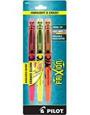 Pilot FriXion Light Erasable Highlighters Chisel Point 3-pk Assorted Colors Yellow/Pink/Orange