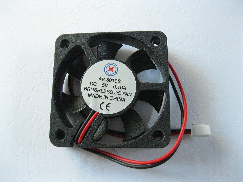 1 Pcs DC Fan 12V 5010 2 Pin 50x50x10mm Brushless DC Cooling Blade Fan