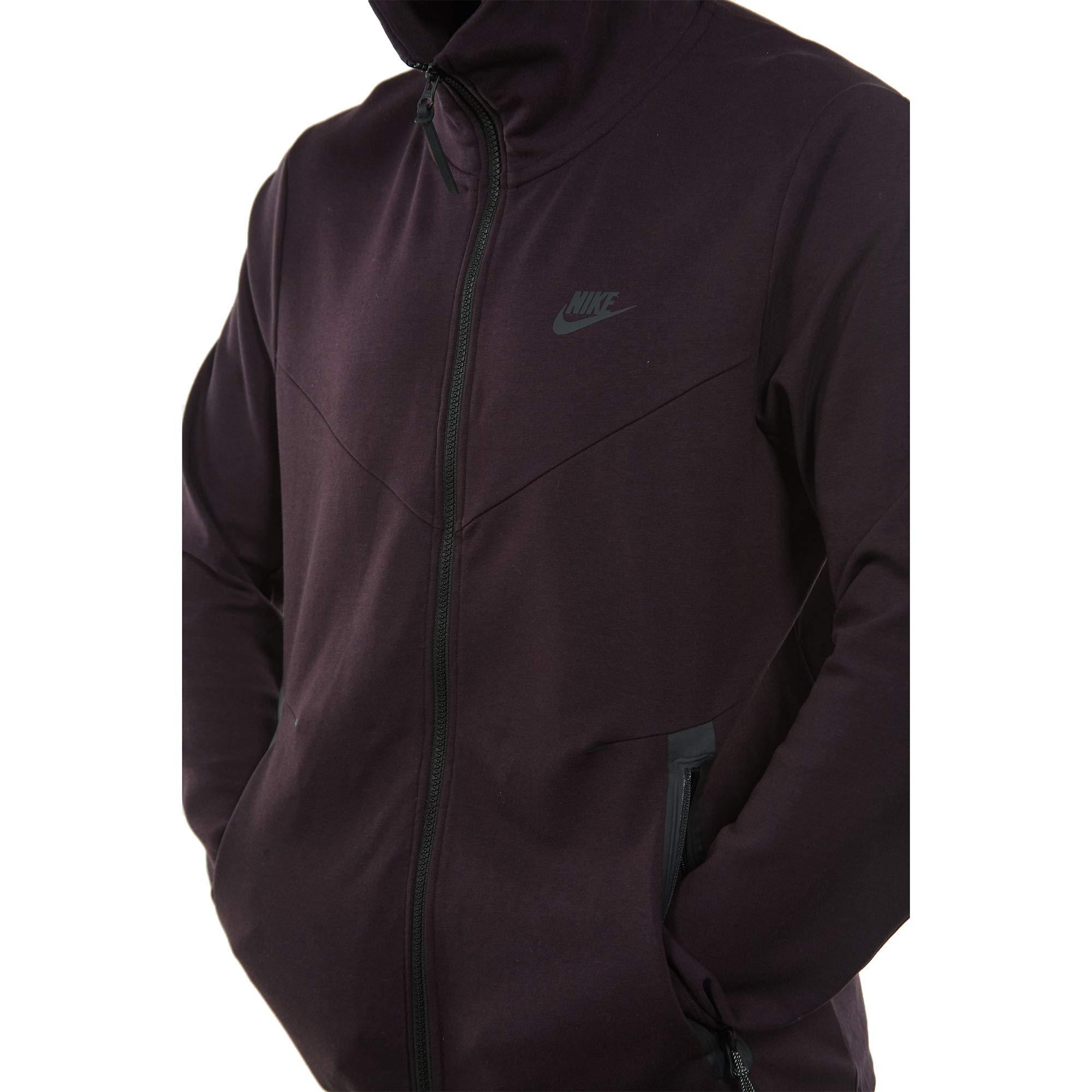 Nike Mens Tech Fleece Pack Full Zip Training Hoodie Burgundy Ash/Black AA3784-659 Size Small by Nike (Image #5)