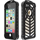 iPhone 5/5S/SE Waterproof Case, SPIDERCASE Full Body Protective Cover Rugged Dustproof Snowproof IP68 Certified Waterproof Case with Touch ID for iPhone 5S 5 SE
