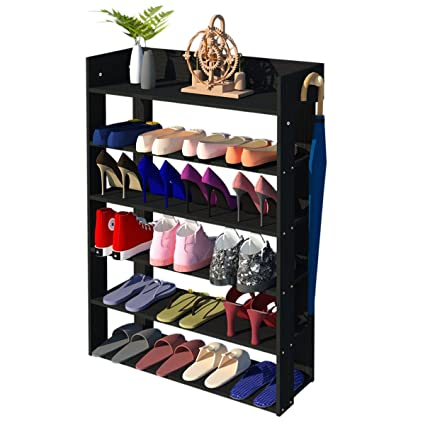 5 Tier Shoe Rack Organizer, Entryway Shoe Cabinet Storage Rack With Side  Hook(