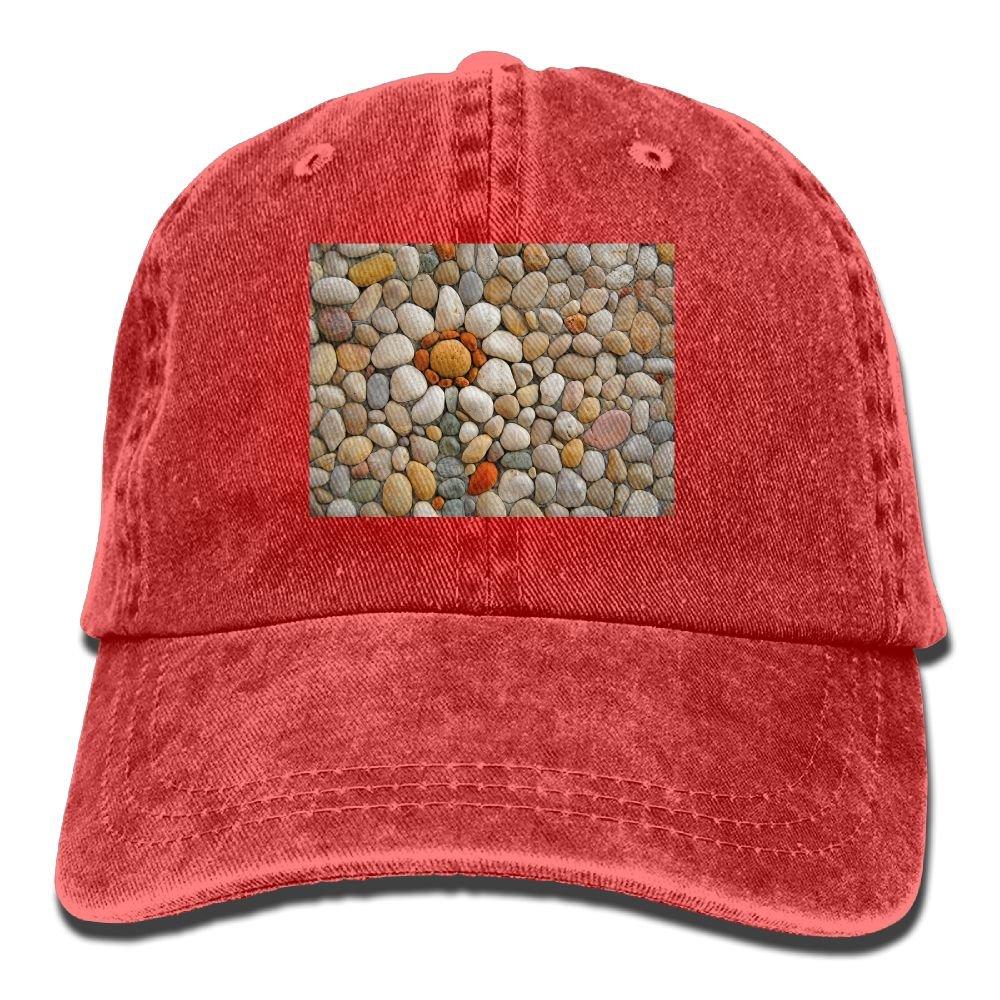 Trableade Beautiful Bright Cobblestone Pattern Adult Sport Adjustable Structured Baseball Cowboy Hat