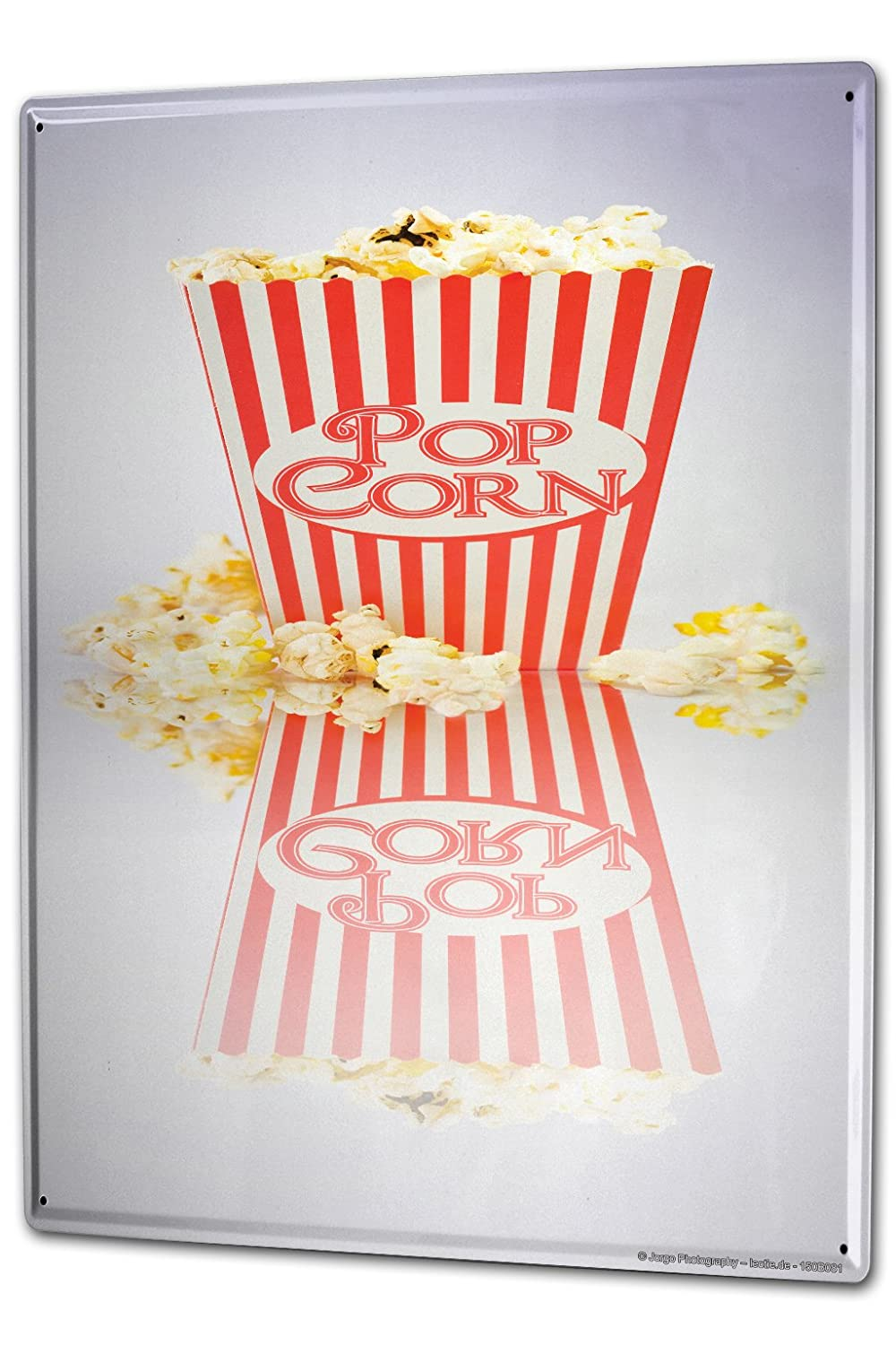 Tin Sign Jorgensen Photography Photo images popcorn red white cinema mirror 20x30 cm Large Metal Wall Decoration Vintage Retro Classic Plaque leotie fashion&lifestyle