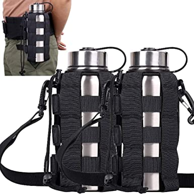 Camping Hiking Nylon Water Bottle Holder Backpack Belt Straps Carrier Pouch AU