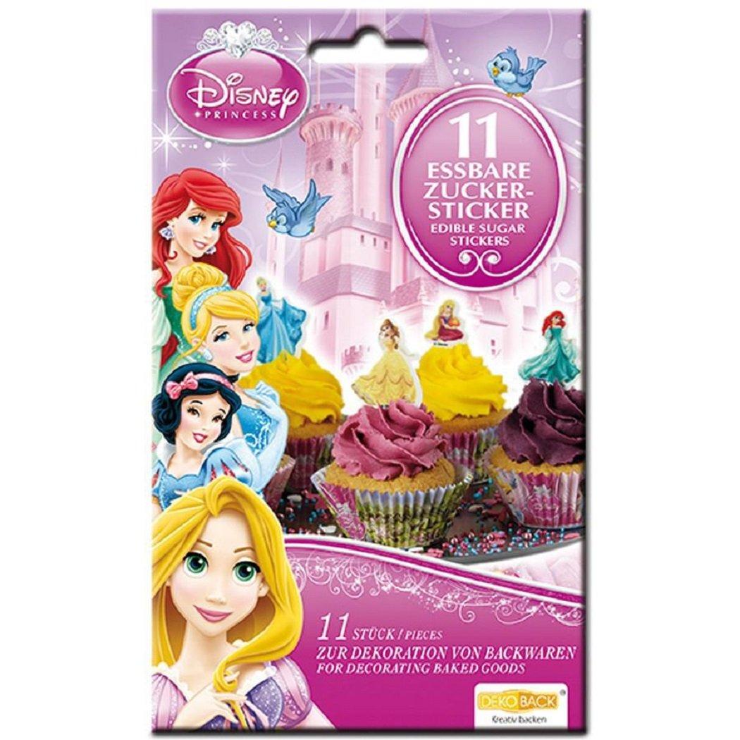 Disney Princess Zuckersticker 11 Stück, essbar, Tortendeko: Amazon ...