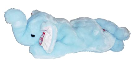2ffc4637ea0 Image Unavailable. Image not available for. Color  TY Beanie Buddy - PEANUT  the Elephant (Light Blue ...