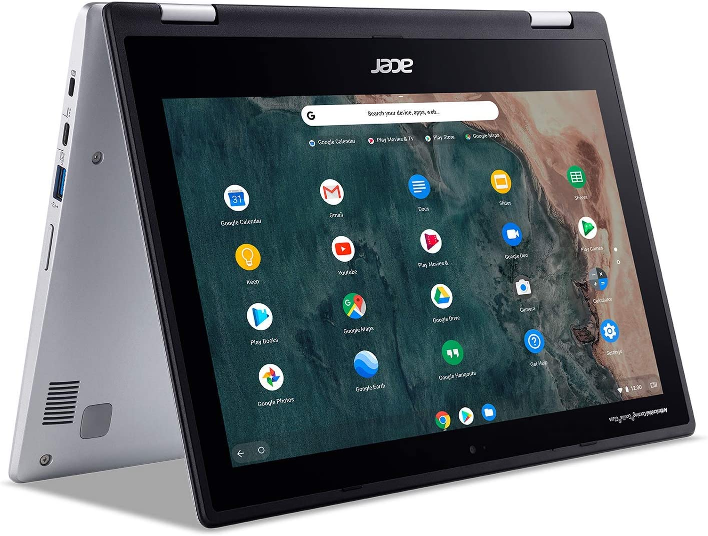 "Acer Chromebook Spin 311 Convertible Laptop, Intel Celeron N4020, 11.6"" HD Touch, 4GB LPDDR4, 32GB eMMC, Gigabit WiFi 5, Bluetooth 5.0, Google Chrome, CP311-2H-C679 (Renewed)"