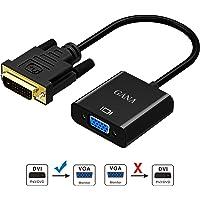 Adaptador DVI a VGA, GANA Activo DVI-D a VGA Convertidor 24 + 1 de Hombre a Mujer Compatible con 1080p / 3D para Que Los Sistemas DVI se Conecten a Las Pantallas VGA - Negro