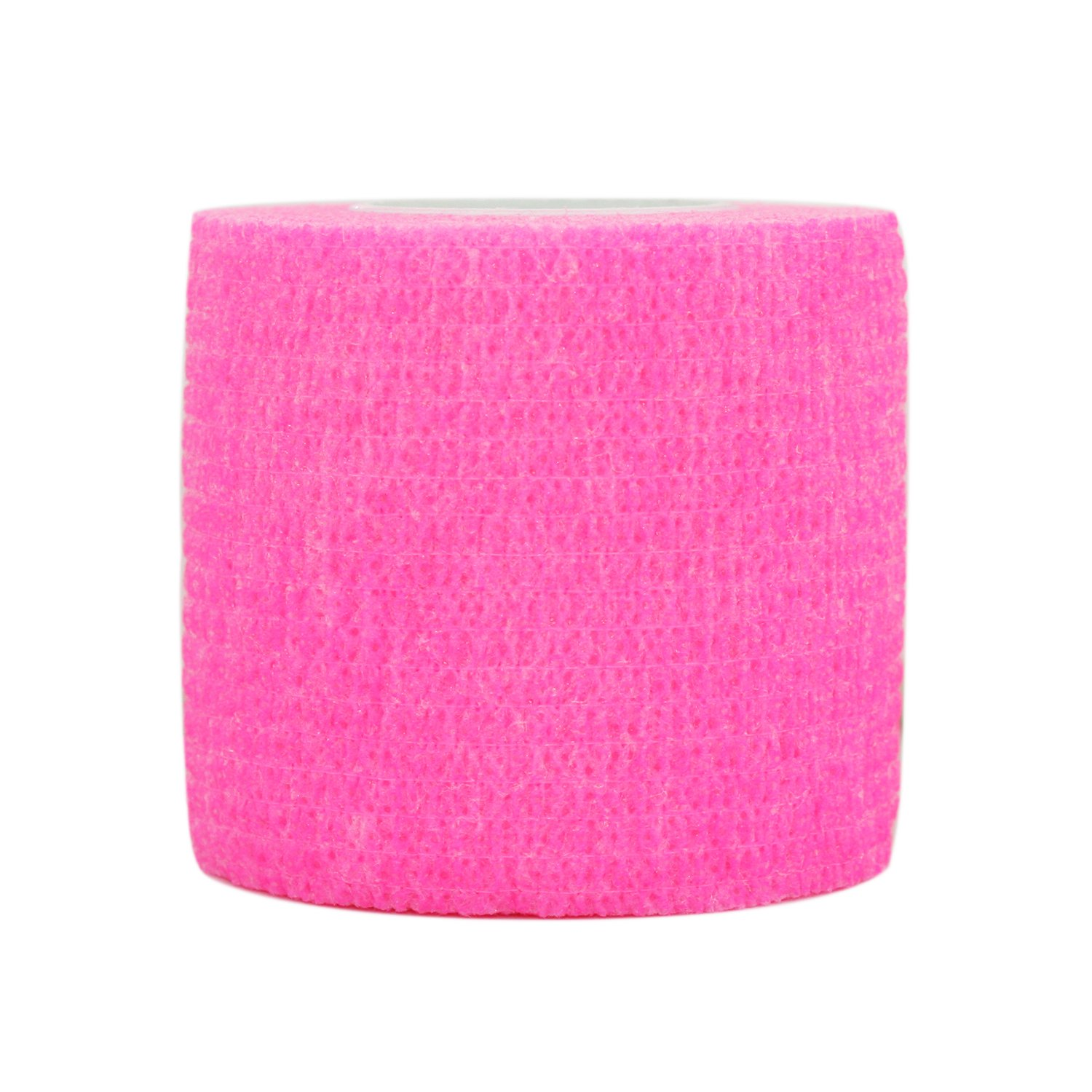 COMOmed Self Adherent Cohesive Bandage FDA Approved 2''x5 Yards First Aid Ace Bandages Stretch Sport Athletic Wrap Vet Tape for Wrist Ankle Sprain and Swelling,Hot Pink(12 rolls)
