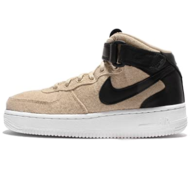 reputable site 1950f de509 Nike Air Force 1  07 Mid Leather Premium Women s Shoes  Amazon.co.uk  Shoes    Bags